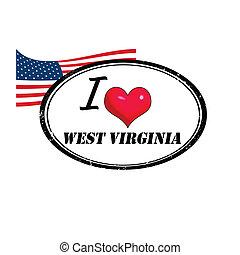oeste, selo, virgínia