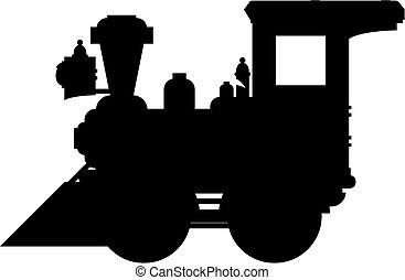 oeste selvagem, trem, silueta
