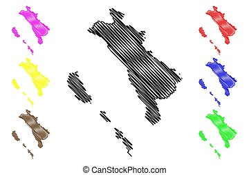 oeste, sumatra, mapa