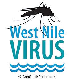 oeste, vírus, nile