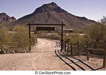 oeste viejo, rancho