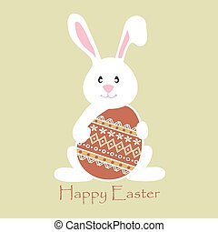 oeuf de pâques, lapin, tenue