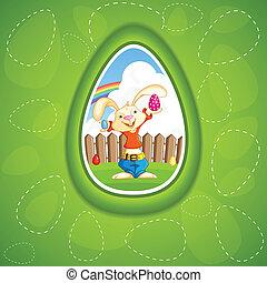 oeuf, lapin pâques