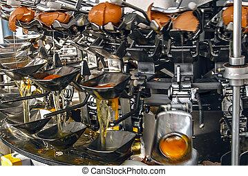 oeufs cassés, industriel, 3, machinerie