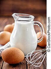 oeufs, lait