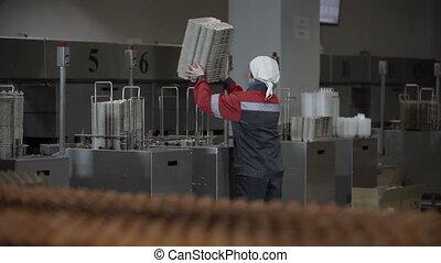 oeufs, ligne production