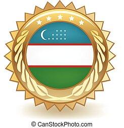 oezbekistan, badge
