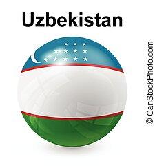 oezbekistan, officieel, staatsvlag