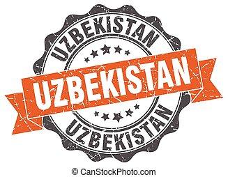 oezbekistan, ronde, lint, zeehondje