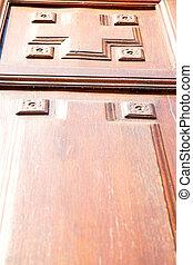 of a brown door in europe