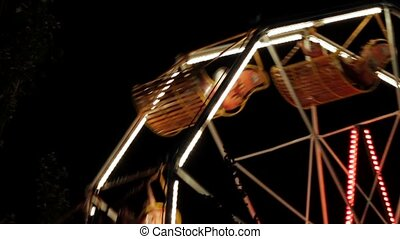 Of A Funfair Ride At Night - In the park after sunset Luli...