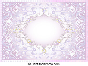 of a pink background with jewels for invitation