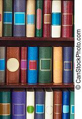 Of books in the closet.