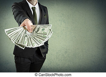 of, contant, concept, lening, bankwezen