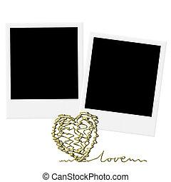 of, dag, trouwfeest, kaarten, valentine