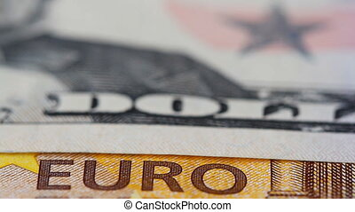of Euro and Dollar