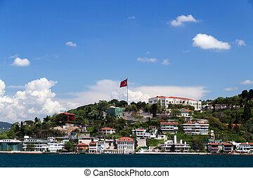 of Istanbul Bosporus seafront, Turkey.