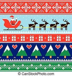 of, model, verbindingsdraad, trui, kerstmis