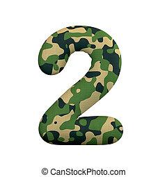 of, oorlog, survivalism, 2, camo, -, getal, cijfer, 3d, leger, concept, leger