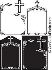 of, overlijdensbericht, plaque