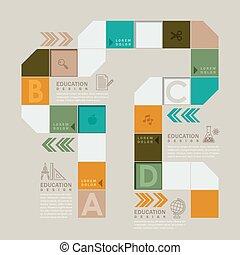 of, plank, kleurrijke, workflow, spel, infographic, ontwerp