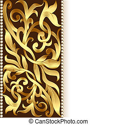 of the background and ornament of gold for invitations