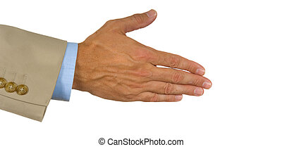 oferecido, mão