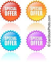 oferta, estrela, especiais, ícone