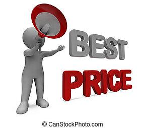 oferta, preço, personagem, venda, desconto, ou, melhor, ...