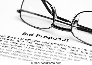 oferta, propuesta