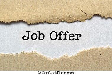 oferta trabalho