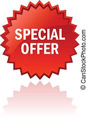 oferta, vetorial, especiais, ícone