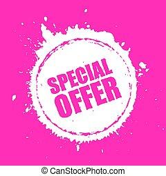 oferta, vetorial, mancha, especiais, ícone