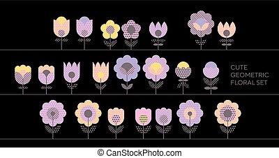 oferta, violeta, primavera, color, floral, resumen, motivo,...