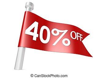Off 40 percent