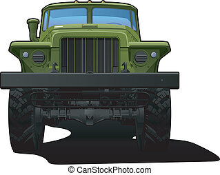 Vector color illustration of military truck . Simple gradients only - no gradient mesh.