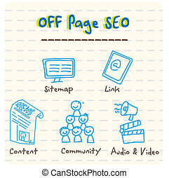 Off Page SEO Vector  - Off Page SEO