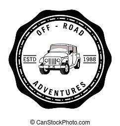 Off road adventure tours badge label
