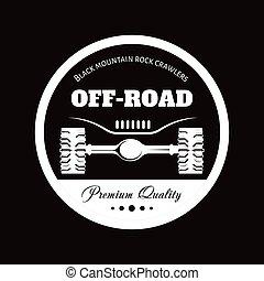 Off-road car adventure club vector icon