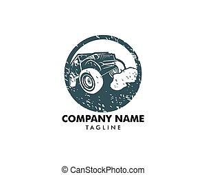 Off-road car logo, safari suv, expedition offroader