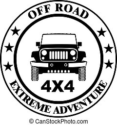 Off-road car stamp