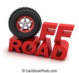 off-road, carreras, símbolo
