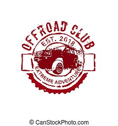 Off-road Club logo. - Extreme competition emblem....