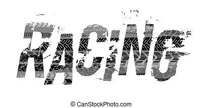 Off-Road grunge moto lettering