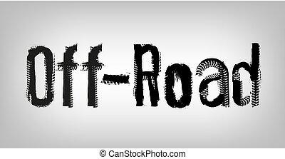 off-road, letras, único