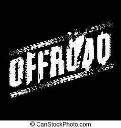 off-road, letras, imagen