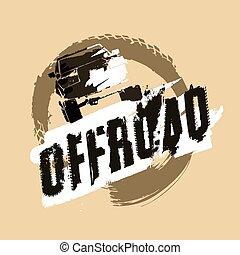 off-road, logotipo, imagen