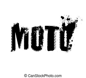 Off-Road Moto Lettering