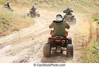 Off-road motorcycling competitions afternoon in summer