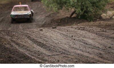 Off-road racing in cars